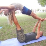Acro yoga with Emy